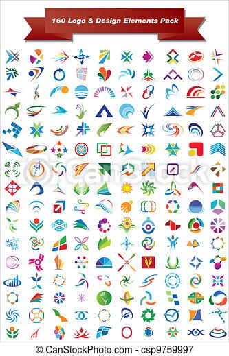 160 Logo & Design-Elemente - csp9759997