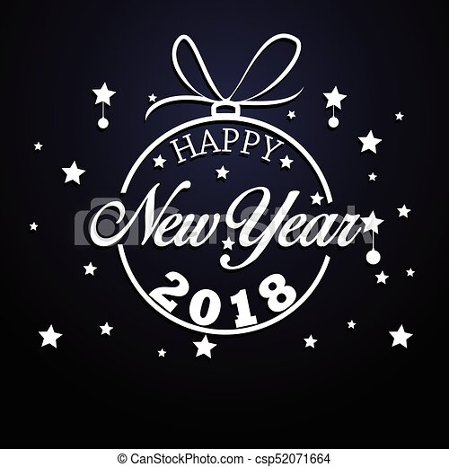 Frohes neues Jahr 2018 - csp52071664