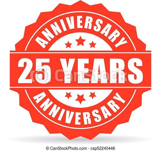 25 Jahre Jubiläums-Vektor-Ikone - csp52240446