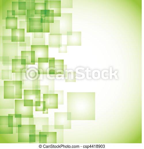 Abstract Green Square Hintergrund. - csp4418903