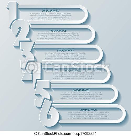 Abstract Modern Infographics Design mit Zahlen - csp17092284