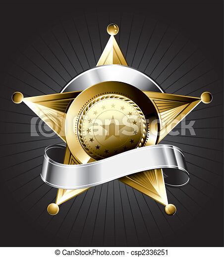 Sheriff-Abzeichen-Design - csp2336251
