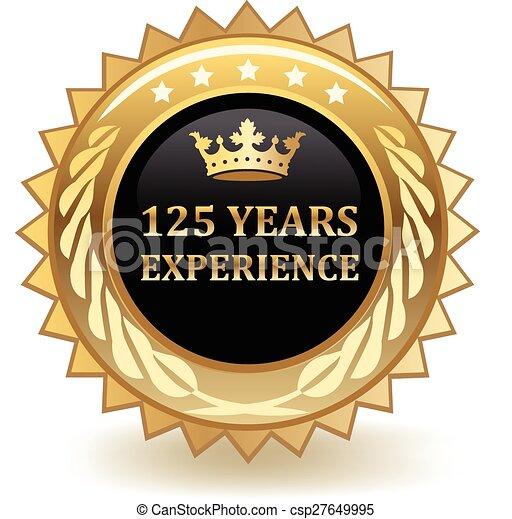 Jahre Erfahrungsmarke - csp27649995