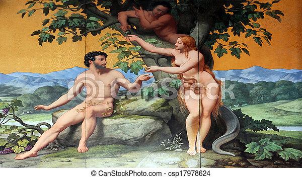 Adam und Eva. - csp17978624