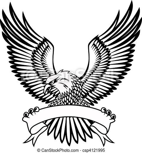 Adler mit Emblem - csp4121995