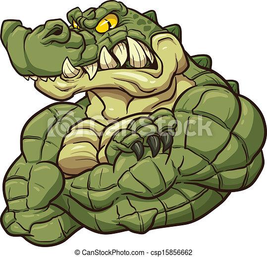 Alligator-Maskottchen - csp15856662