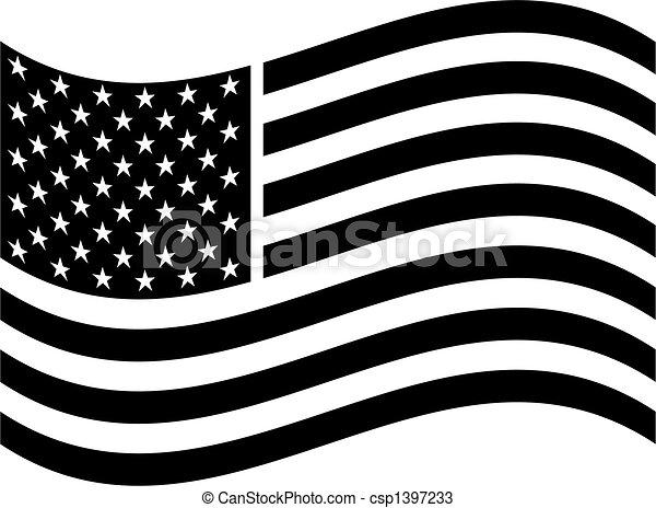 American Flag Clip Art. - csp1397233