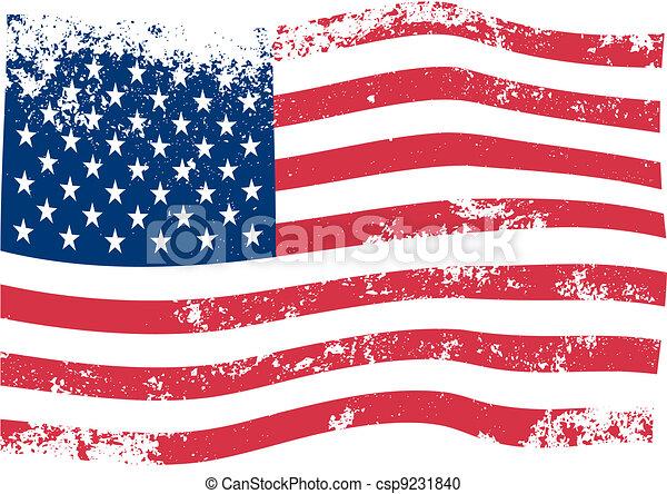 Amerikanischer Flaggenvektor - csp9231840