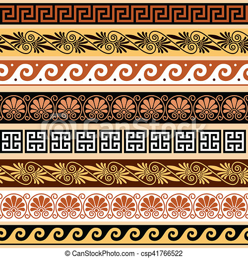 Griechische Welle Ornament Muster Kostenlose Vektor 8