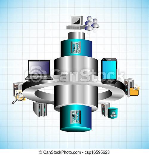 anwendung, integration, unternehmen - csp16595623