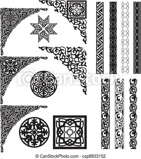 Arabische Zierdecke und Divider - csp8833152
