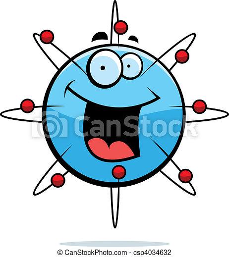 Atom lächelt - csp4034632