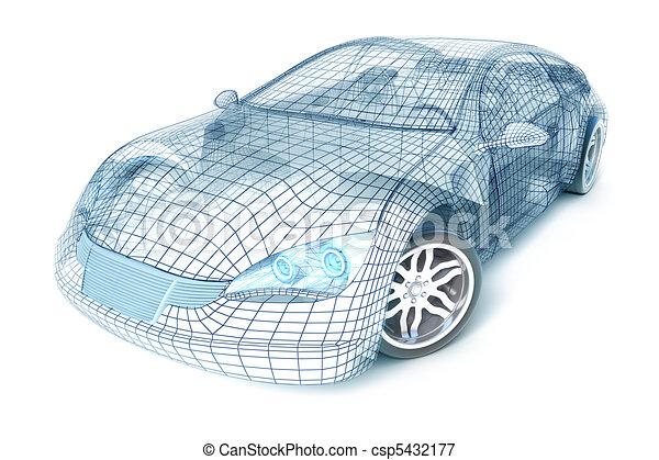 Autodesign, Drahtmodell - csp5432177