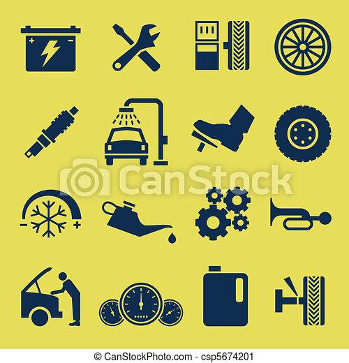 Autoreparatur-Icon-Symbol - csp5674201