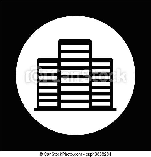 Bürogebäude Ikone. - csp43888284