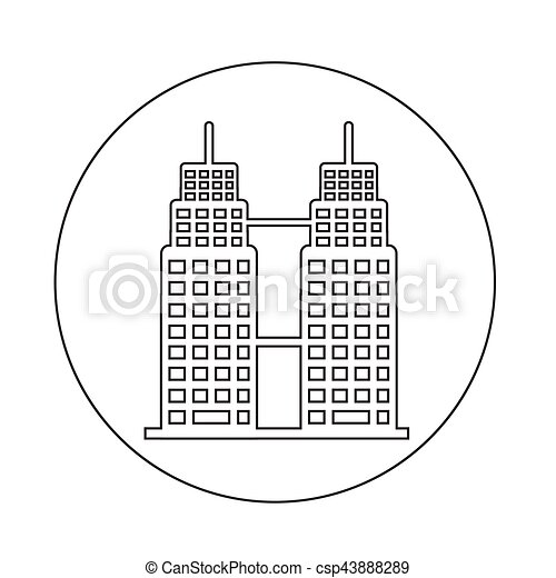 Bürogebäude Ikone. - csp43888289