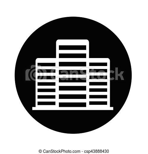 Bürogebäude Ikone. - csp43888430