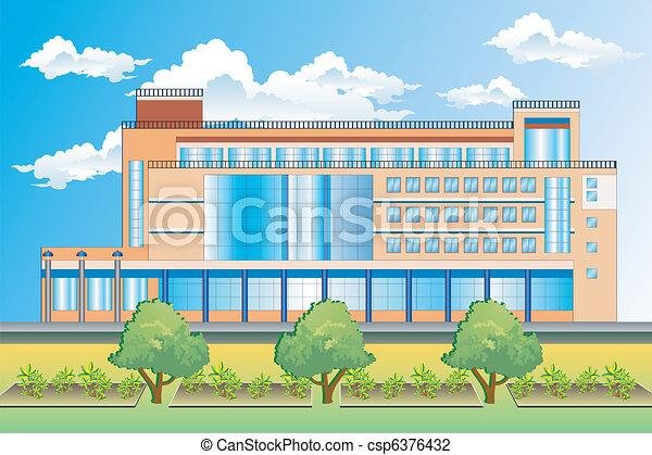 Bürogebäude. - csp6376432