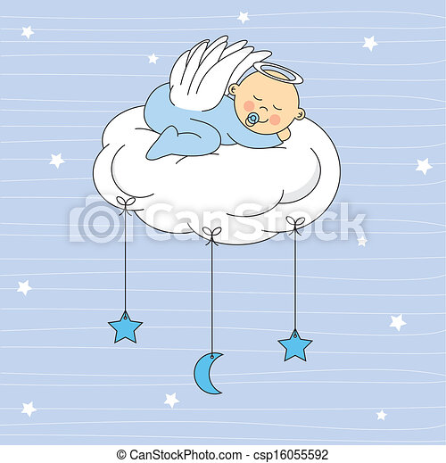 Baby Boy gekleideter Engel - csp16055592