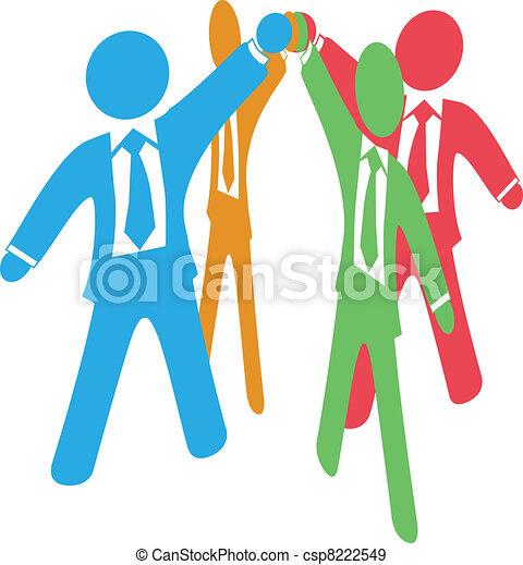 Geschäftsleute arbeiten zusammen - csp8222549