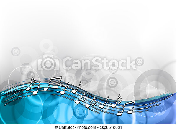 Blaue Musik - csp6618681