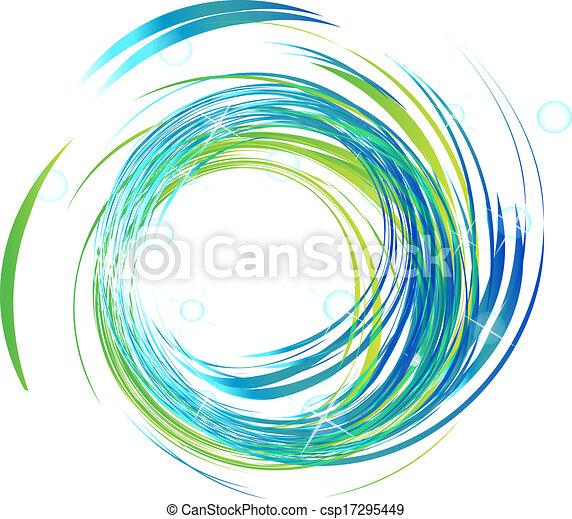 Blaue Wellen mit hellem Licht Logo. - csp17295449