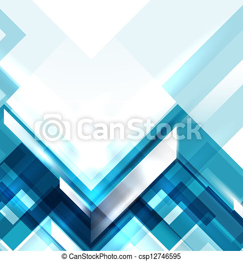 Blauer geometrischer abstrakter Hintergrund - csp12746595