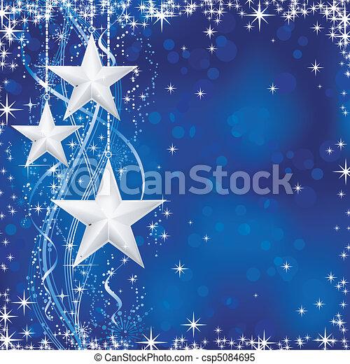blaues, punkte, sternen, occasions., winter, transparencies., licht, festlicher, linien, schnee, /, weihnachten, wellig, flocken, nein, hintergrund, dein - csp5084695