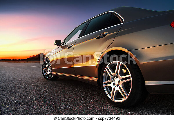 Blick aufs Auto. - csp7734492