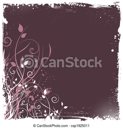 Floral Grunge - csp1925011