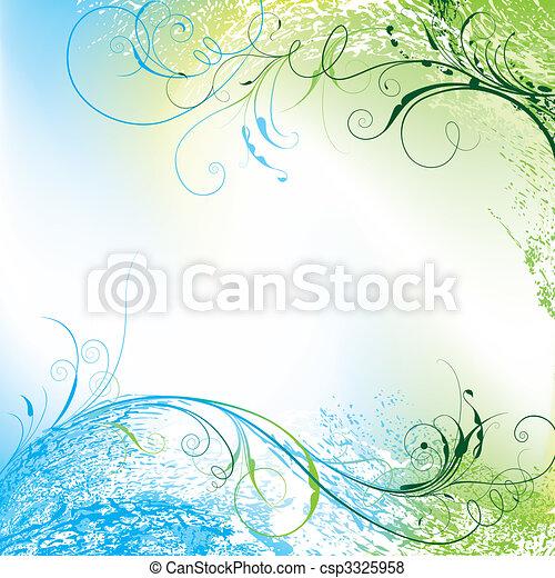 Floral Hintergrund - csp3325958