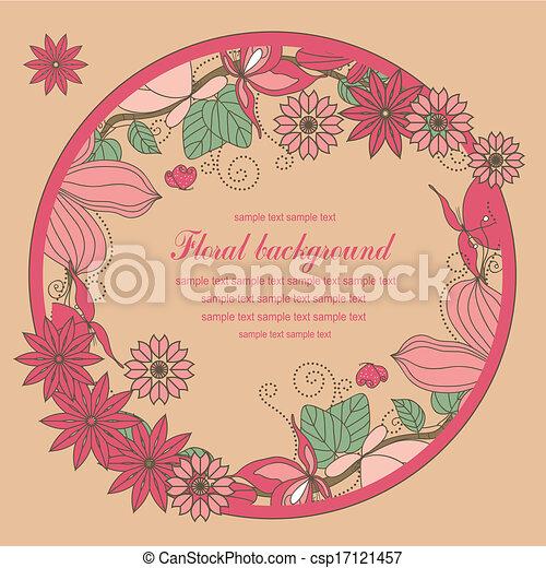 Blumen und Schmetterlinge. - csp17121457