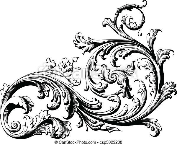 Blumenrolle - csp5023208