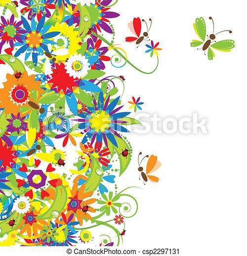 Blumenstrauß, Sommer-Illustration - csp2297131