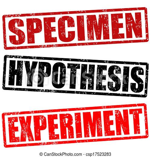 Specimen, Hypothese und Experimentstempel - csp17523283