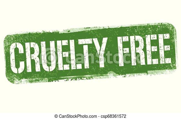 briefmarke, zeichen, oder, frei, grausamkeit - csp68361572