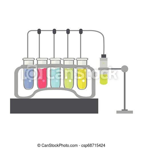 Isoliertes chemisches Experimentbild - csp68715424