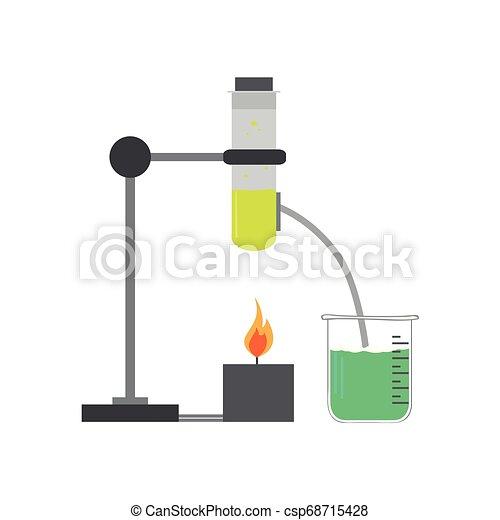 chemische , bild, versuch, freigestellt - csp68715428