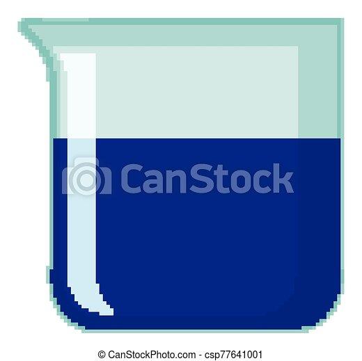 chemische , blaues, gefüllt, trinkbecher, hintergrund, freigestellt - csp77641001