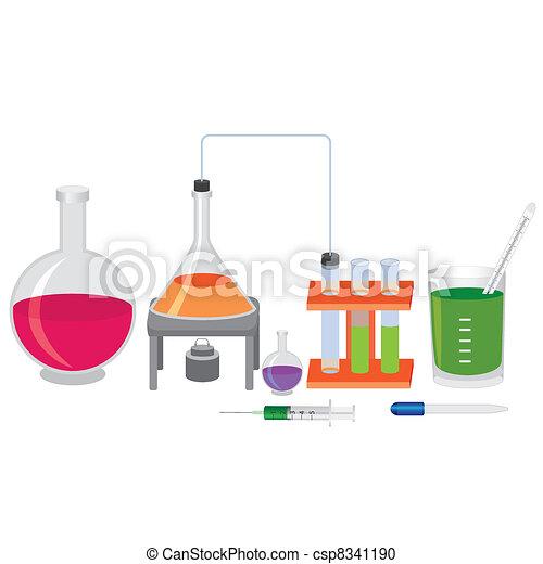 chemische , fluids., versuch - csp8341190