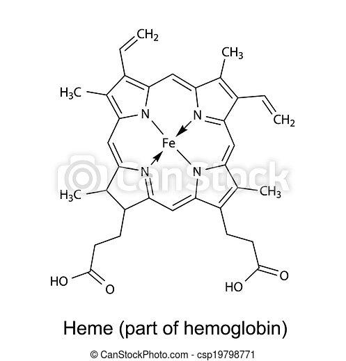 chemische , heme, formel - csp19798771