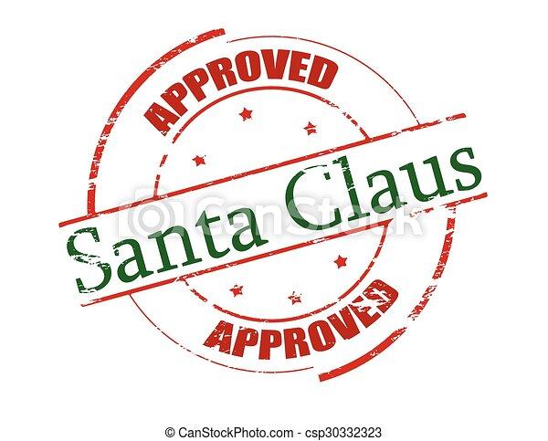 claus, genehmigt, santa - csp30332323