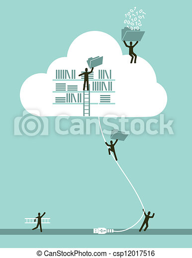 Cloud Computing Business Konzept - csp12017516