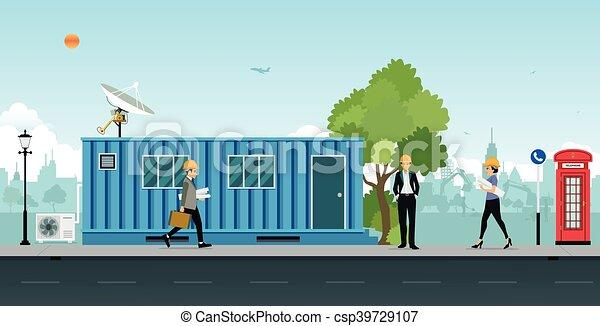 Containerbüro. - csp39729107