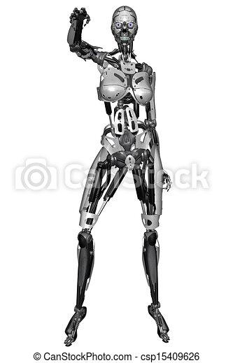 Cyborg-Frau - csp15409626
