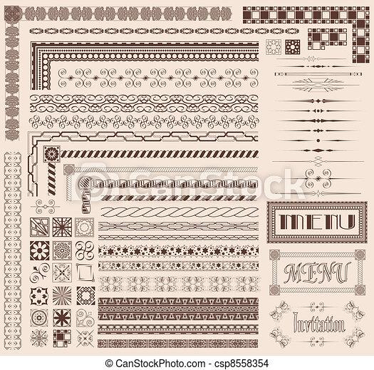 Decorative Grenzelemente - csp8558354