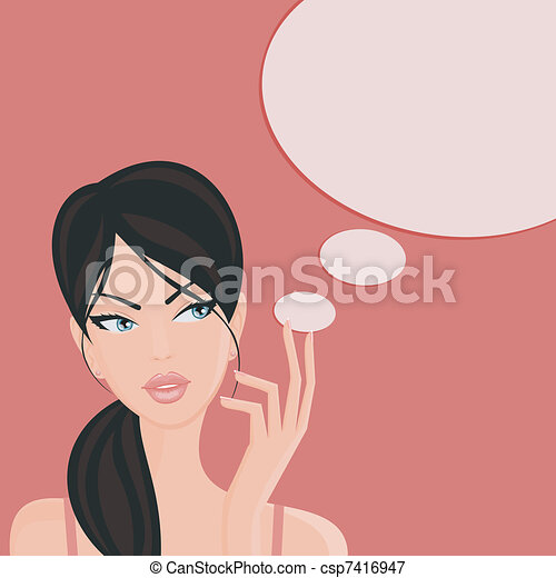 Denkendes Mädchen - csp7416947