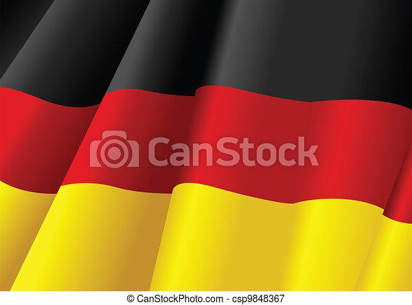Die Flagge der Deutschen - csp9848367