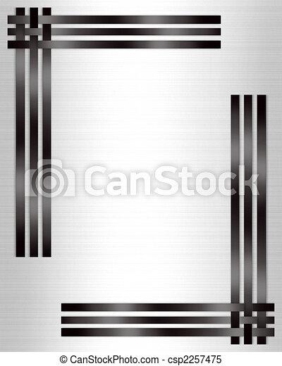 Die formelle Einladung ist schwarzweiß - csp2257475
