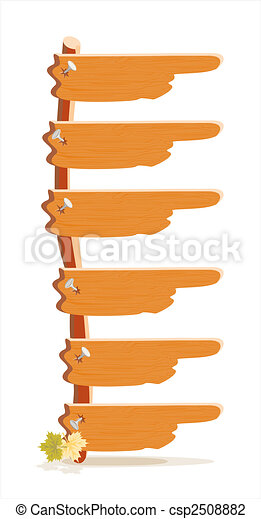 Die Holz-Index-Menü der Website - csp2508882